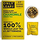 Teabox Chamomile Green Tea For Stress Relief & Good Sleep, Made with 100% Whole Leaf & Natural Chamomile Flowers, 27 Pyramid Tea Bags (25 Tea Bags + 2 Free Samples)