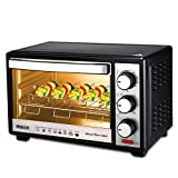 Inalsa Master Chef 19 BKR OTG-1300W, Motorised Rotisserie & Temperature Selection 6 Stage Heat Selection Powder Coated Finish (Black)