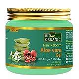INDUS VALLEY Bio Organic Hair Reborn Aloe Vera Gel With Bhringraj & Walnut Oil For Ultimate Hair Management (175ml)