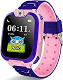 Smart Watch Phone for Kids, Smart Watch with STEM Puzzle Games for Boys Girls, HD Touch Screen Sports Smartwatch with SOS Cal/ Camera Recorder/Alarm/Music Player for Children Teen Students (Pink)