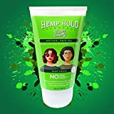Super Smelly Hemp Hold and Style Natural Hair Gel | For Styling and Strong Hold with Wet Look | With Flaxseed, Rosemary and Aloe-Vera | For Women and Men | For all hair types | 100 ml |