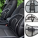 JM SELLER Car Back Pain Relief Lower Back Support for Chair Back Rest for Office Chair Lumbar Support Orthopedic Cushion for Back Belt for Men Pain Mesh Ventilate Cushion Pad