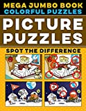 Picture Puzzles Mega Jumbo Book: Spot the Differences Book for Kids & Adults, Colorful Puzzles with Solution - Activity Book.