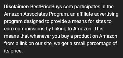 BestPriceBuys.com Affiliate Disclaimer